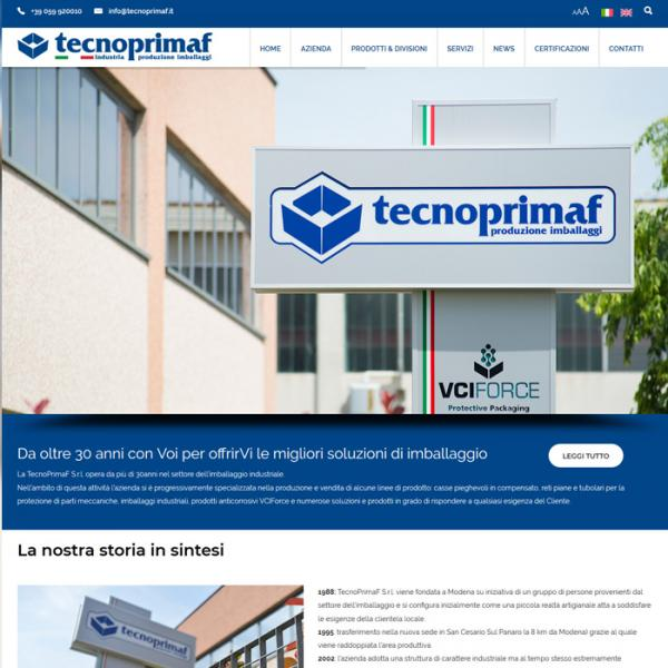 Tecnoprimaf website